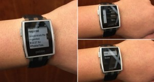 Pebble smartwatch with Androud Wear