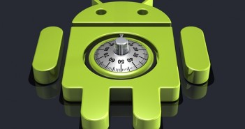 Android logo with a lock