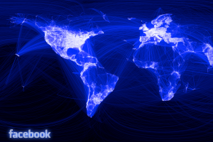 Facebook connected world