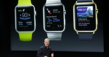 Apple watch with Tim Cook