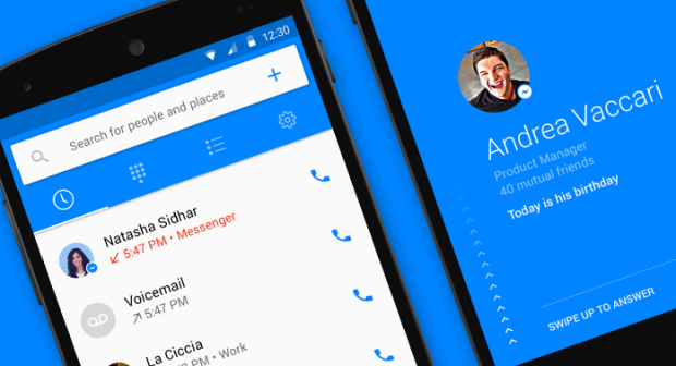Facebook voice calling app for Android