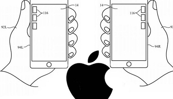 iphone patent for left handed users