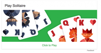 solitaire on Google Search