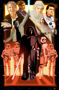 The Force Awakens in MS PAINT