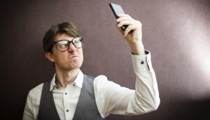 Man angry with SMS Spam