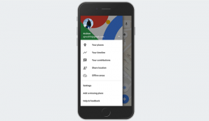 Your Timeline on Google Maps for iOS