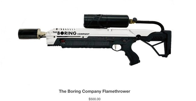 Elon Musk's Boring Company branded flamethrowers have sold out