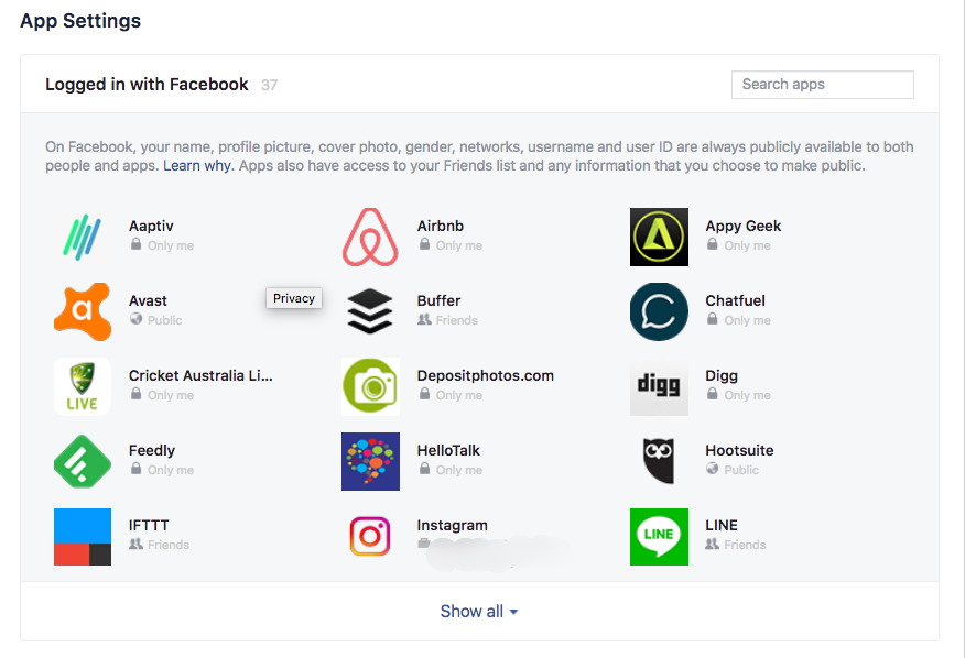 how to check what apps can use your facebook