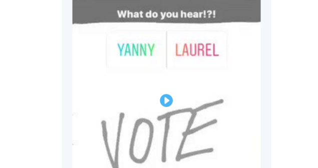 Do you hear what I hear? Yanny vs Laurel